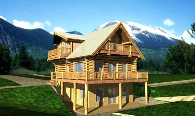 Mountain House Plans Front