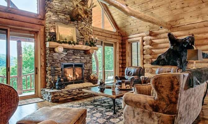 Mountain Log Home New Hampshire