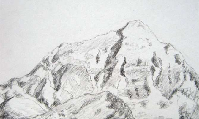 Mountain Mountains Sketch