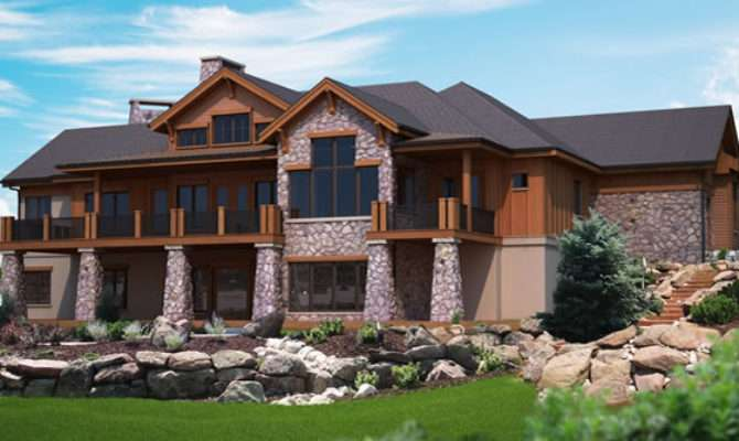 Mountain Plans Hillside Home Walk Out Lower