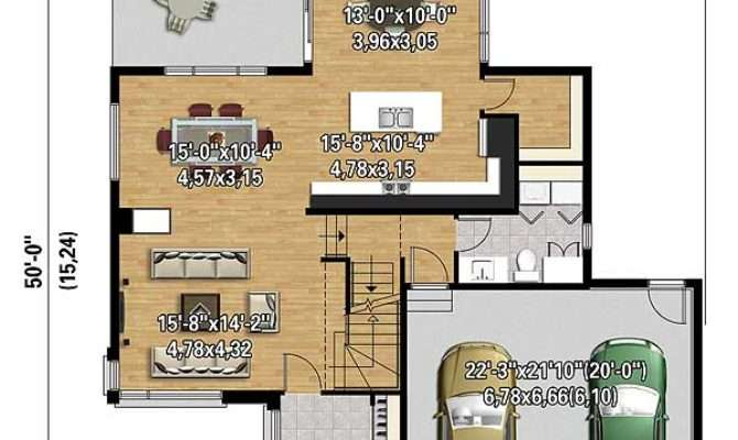 Multi Level Modern House Plan Architectural
