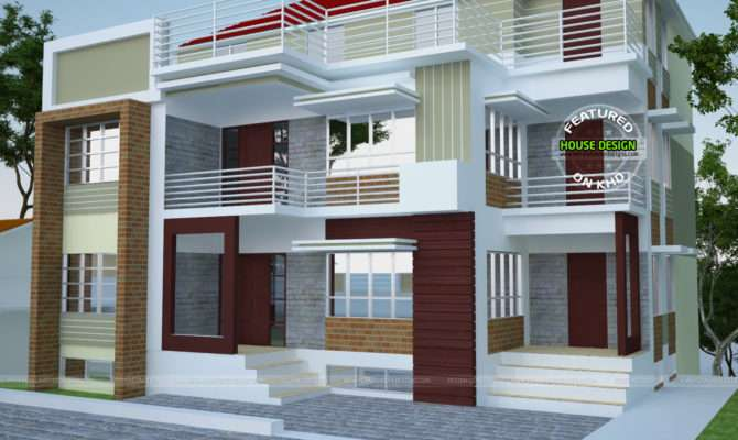 Multi Plex Home Plan Kerala Design