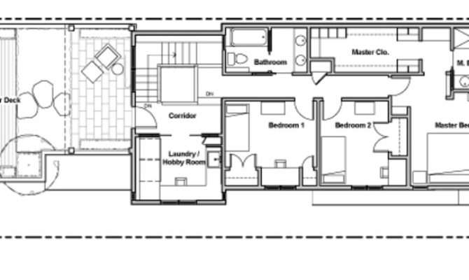 Narrow Long House Plans Design