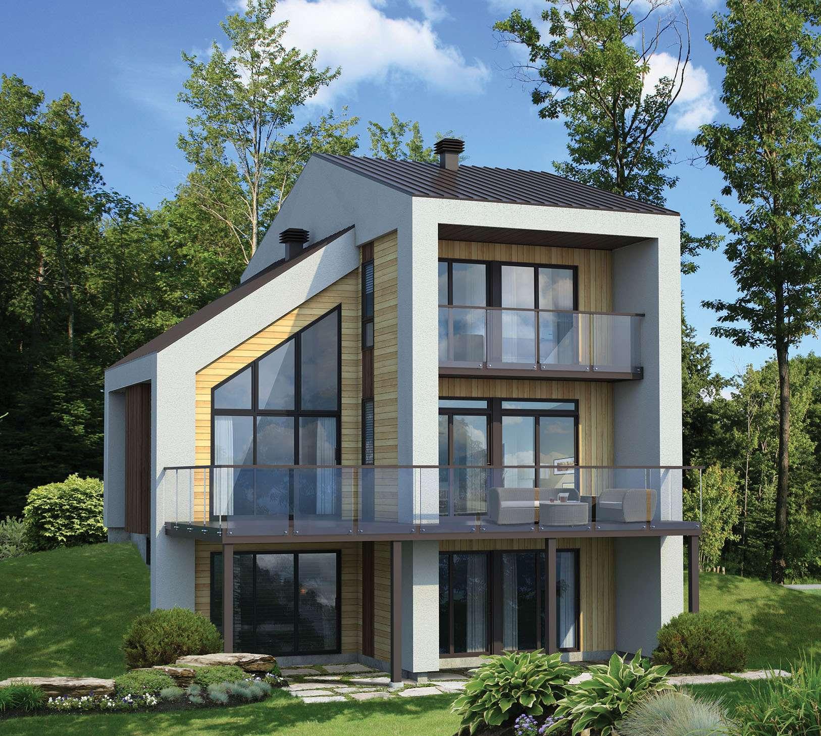 Narrow Lot Contemporary House Plan
