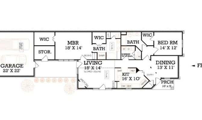 Narrow Lot Floor Plans House