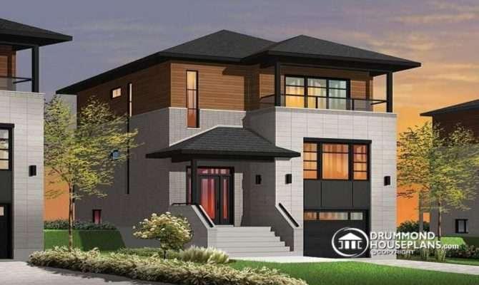 Narrow Lot Homes Porches Contemporary