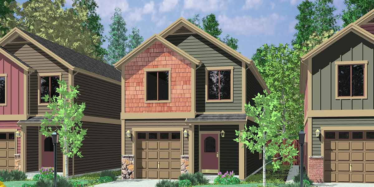 Narrow Lot House Plans Building Small Houses Lots
