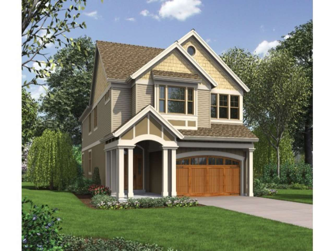 Narrow Lot House Plans Front Garage