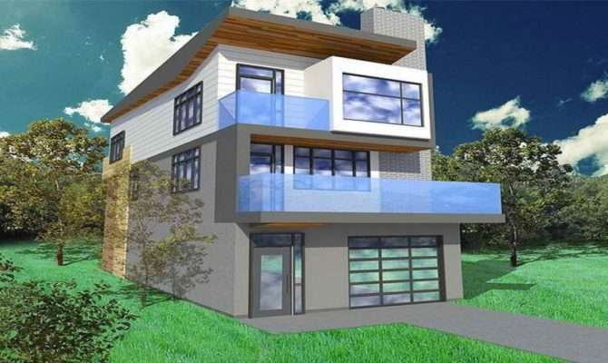 Narrow Lot House Plans Garage