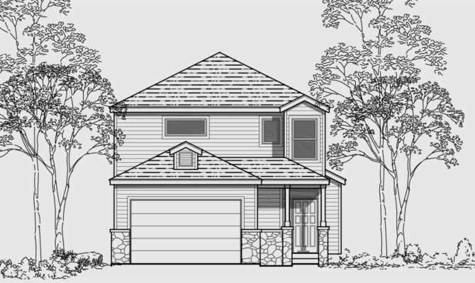 Narrow Lot Story House Plans Three
