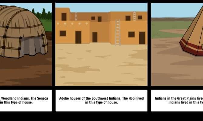 Native American Houses Storyboard Sewg