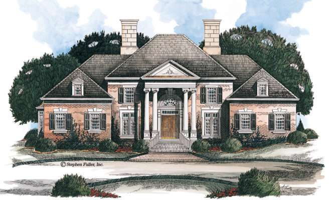 Neoclassical House Plans Designs Builderhouseplans