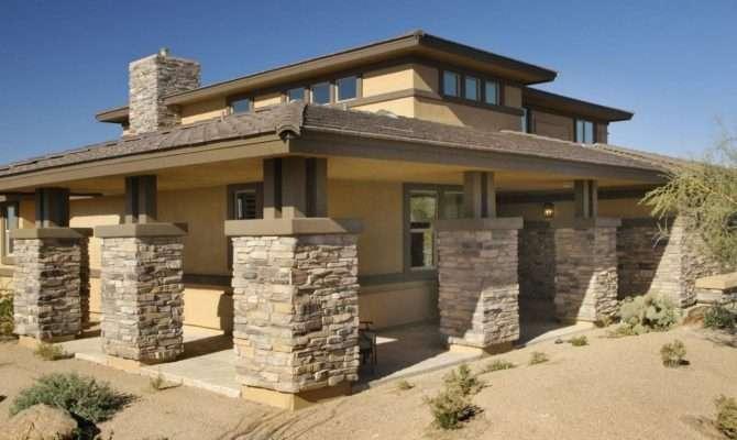 Neutral Prairie Style Southwestern Home Exterior Columns Outline