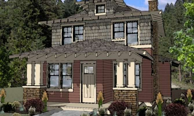 New American Foursquare House Plans Arts