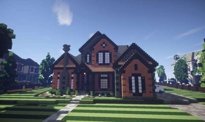 New American Mansion Minecraft Build Showcase Youtube