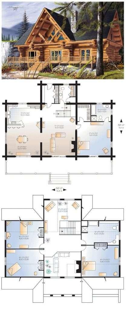 New Bedroom Log Home Floor Plans Design