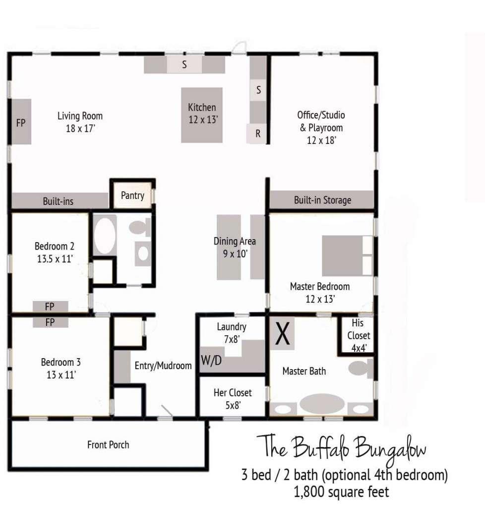 New Buffalo Bungalow Floor Plan
