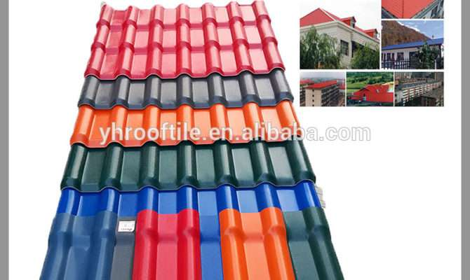 New Building Materials Heat Insulation Plastic Roof Tile