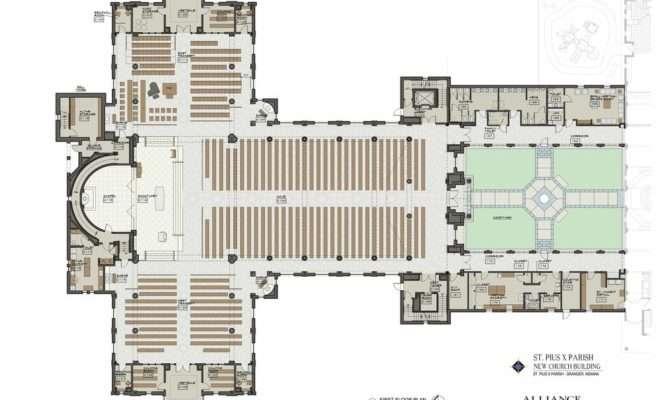 New Church Plans Conceptual Design Saint Pius Catholic