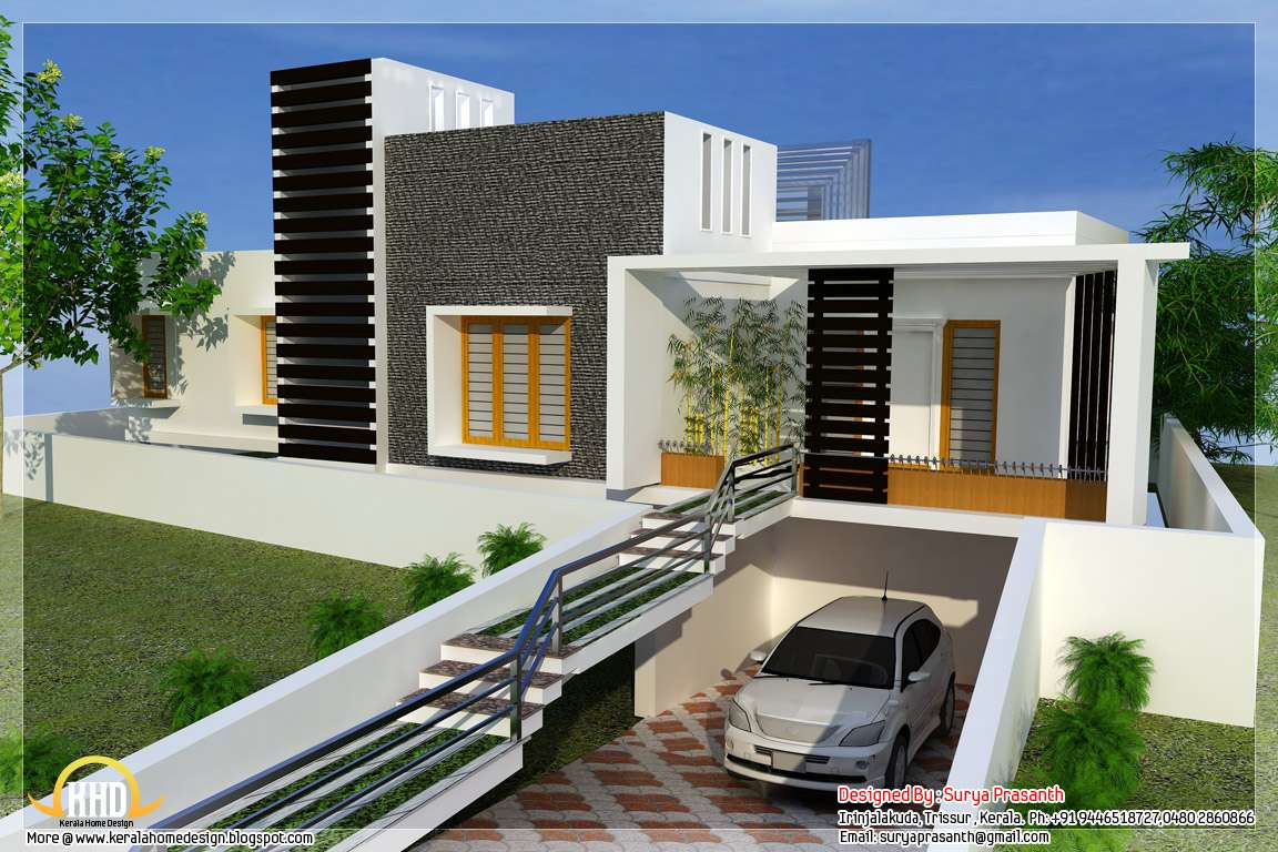 New Contemporary Mix Modern Home Designs Kerala