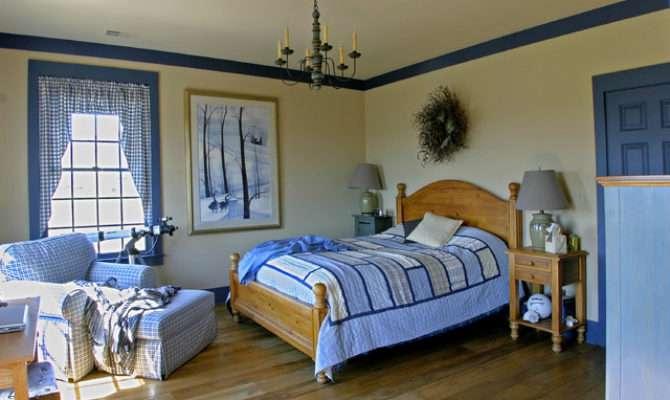 New England Salt Box Style Traditional Bedroom