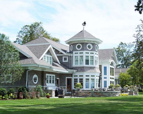 New England Shingle Style Vacation Cottage Lake Michigan