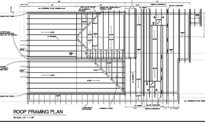 New Framing Details Floor Plan Roof