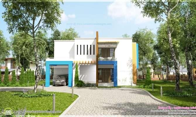 New Generation Contemporary House Exterior Kerala Home Design