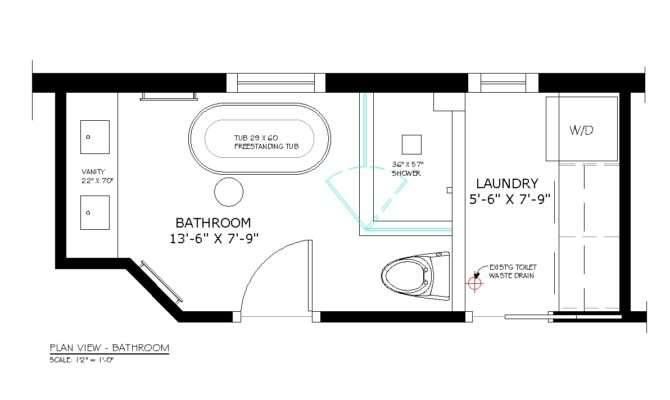 New Small Half Bathroom Floor Plans Montclaire Tiny Houses