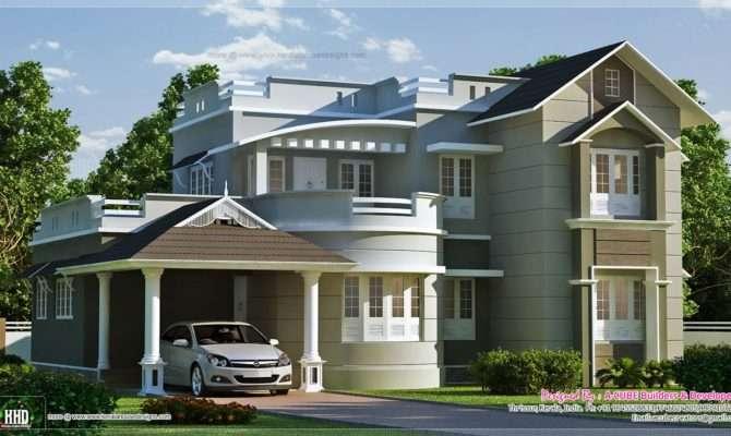 New Style Home Exterior Feet Kerala Plans