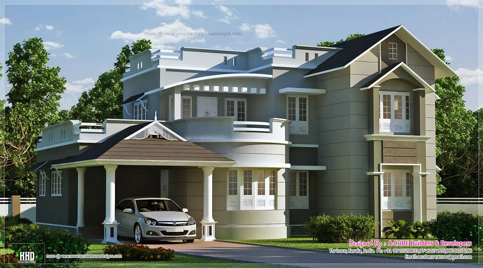 New Style Home Exterior Feet Kerala