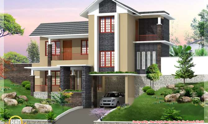 New Trendy Bhk Kerala Home Design