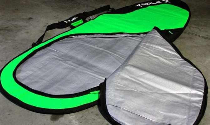New Triple Heavy Duty Shortboard Fishboard Surfboard Bag Green