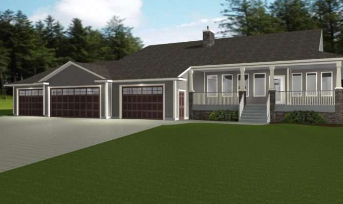 Nice House Plans Car Garage Ranch Style