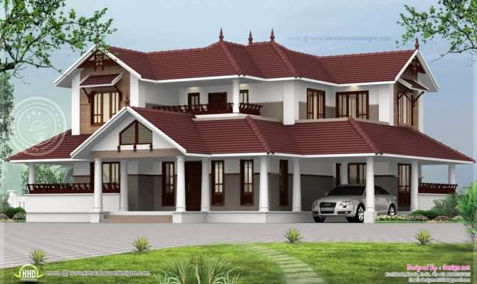 Nice Kerala Style Sloping Roof Home Exterior House Design