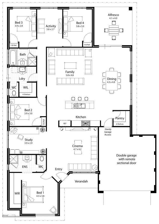 Nice Large Kitchen House Plans