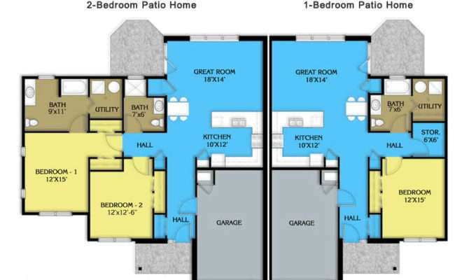 Nice Patio Homes Home House Plans Designs