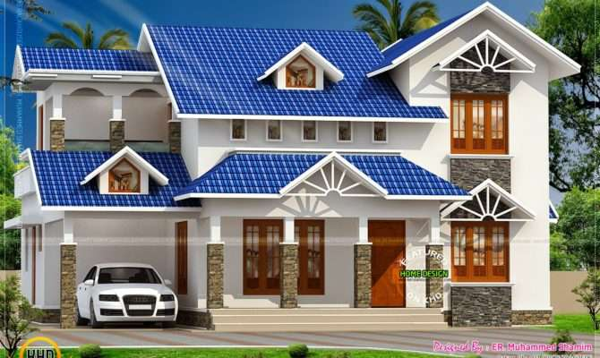 Nice Sloped Roof Kerala Home Design Floor