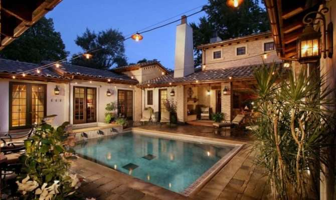 Nice Spanish Style House Plans Central Courtyard
