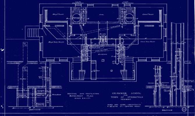 North School Blueprint Basement Level