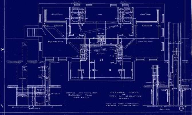 North School Blueprint Basement Level