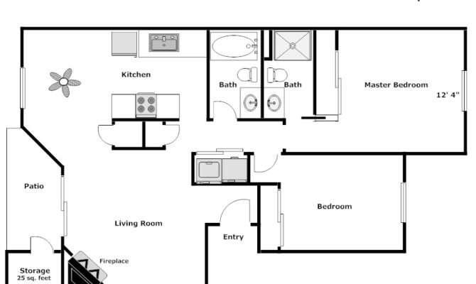 Northwood Place Bedroom Bath Floor Plan
