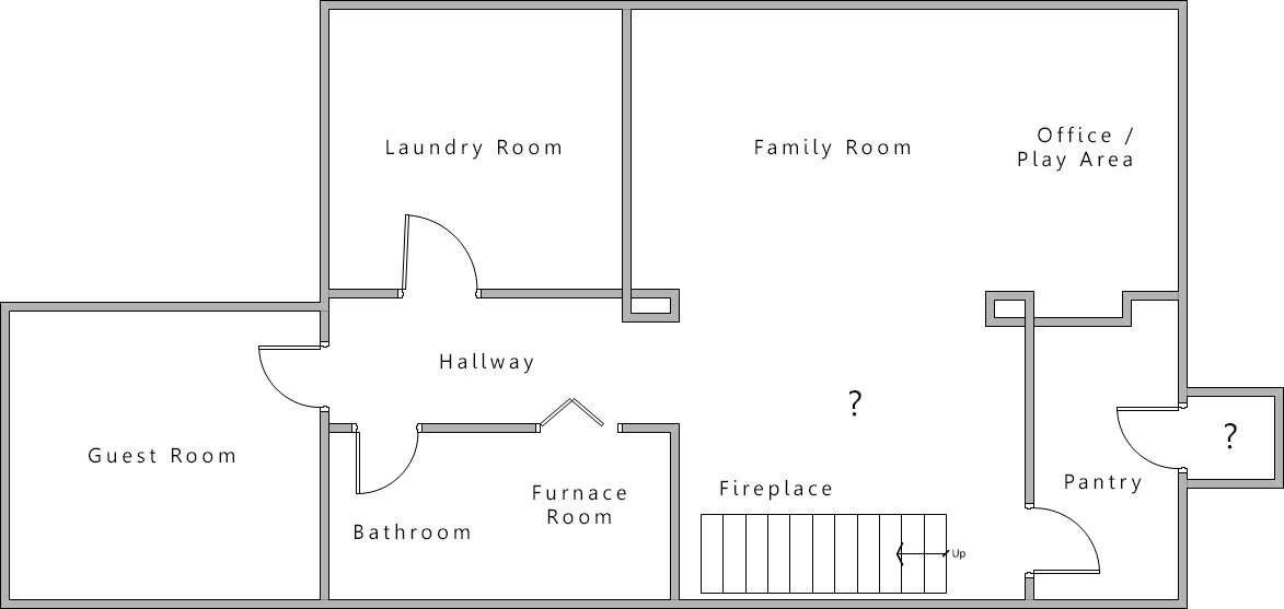 Note Little Room Off Pantry Question Mark