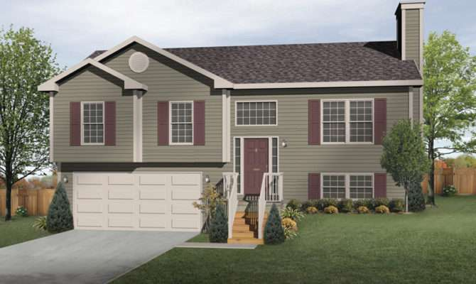 Oaklawn Split Level Home Plan House Plans More