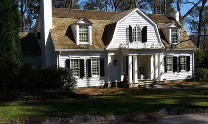 Old Dutch Colonial Homes Gambrel House Plans