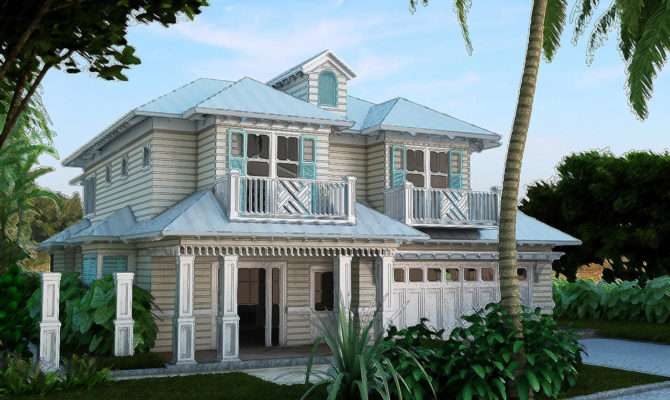Old Florida Style Architecture House Plans