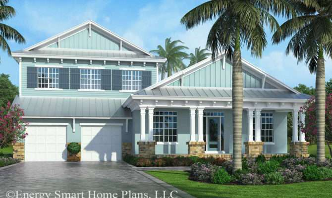 Old Florida Style Naples Energy Smart Home Plans