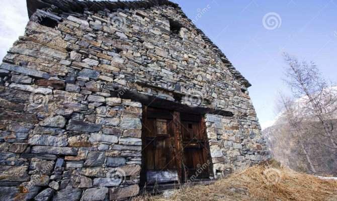 Old House Made Stones Door