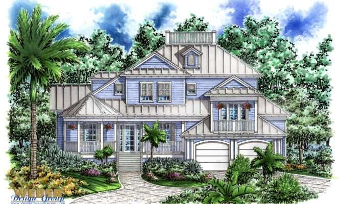 Olde Florida House Design Islander Plan Weber Group