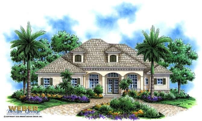 Olde Florida House Design Lexington Manor Home Plan Weber